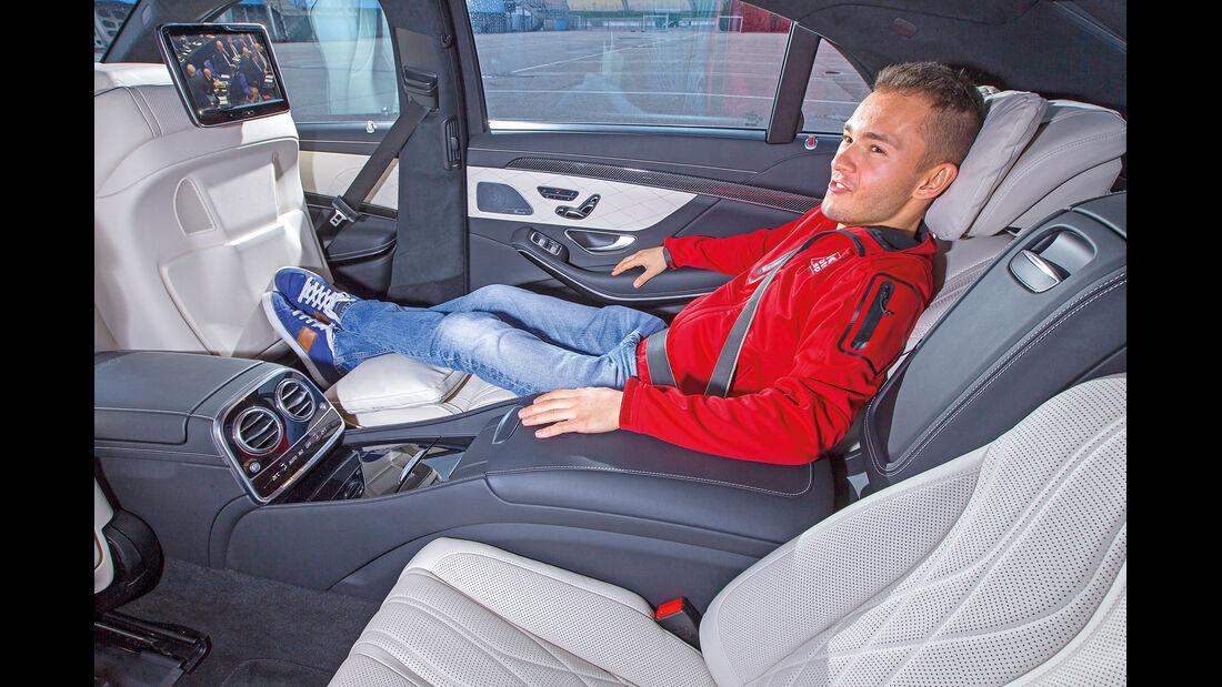 Mercedes S 63 AMG 4Matic, Fondsitz, Beinfreiheit