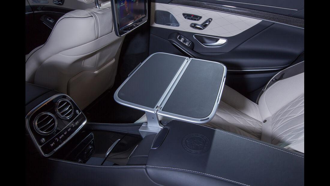 Mercedes S 63 AMG 4Matic, Klapptisch