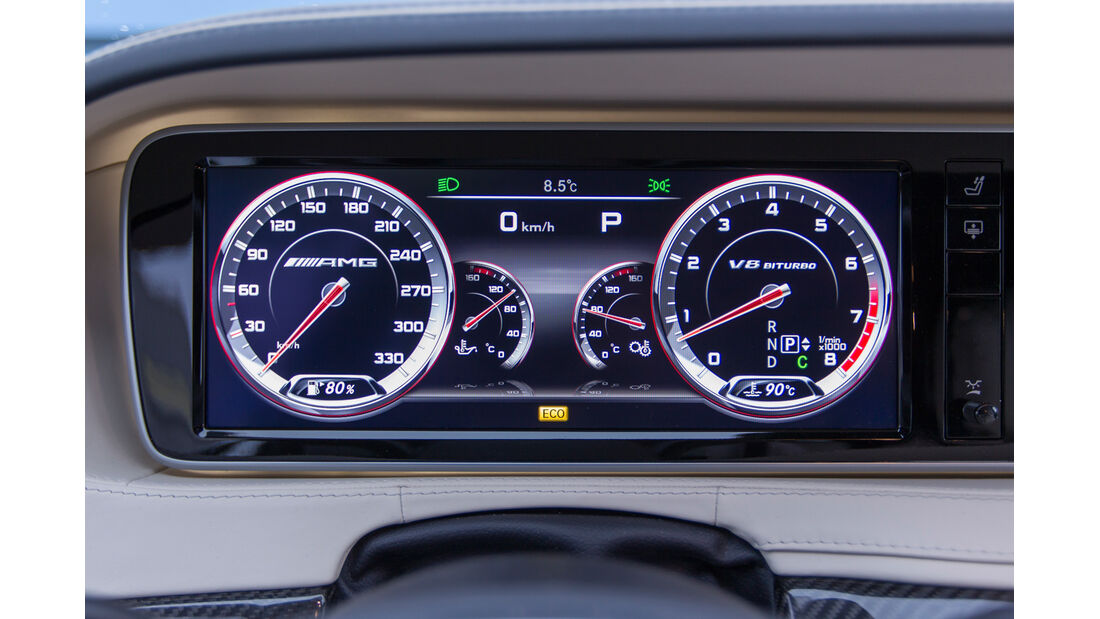 Mercedes S 63 AMG 4Matic, Rundinstrumente