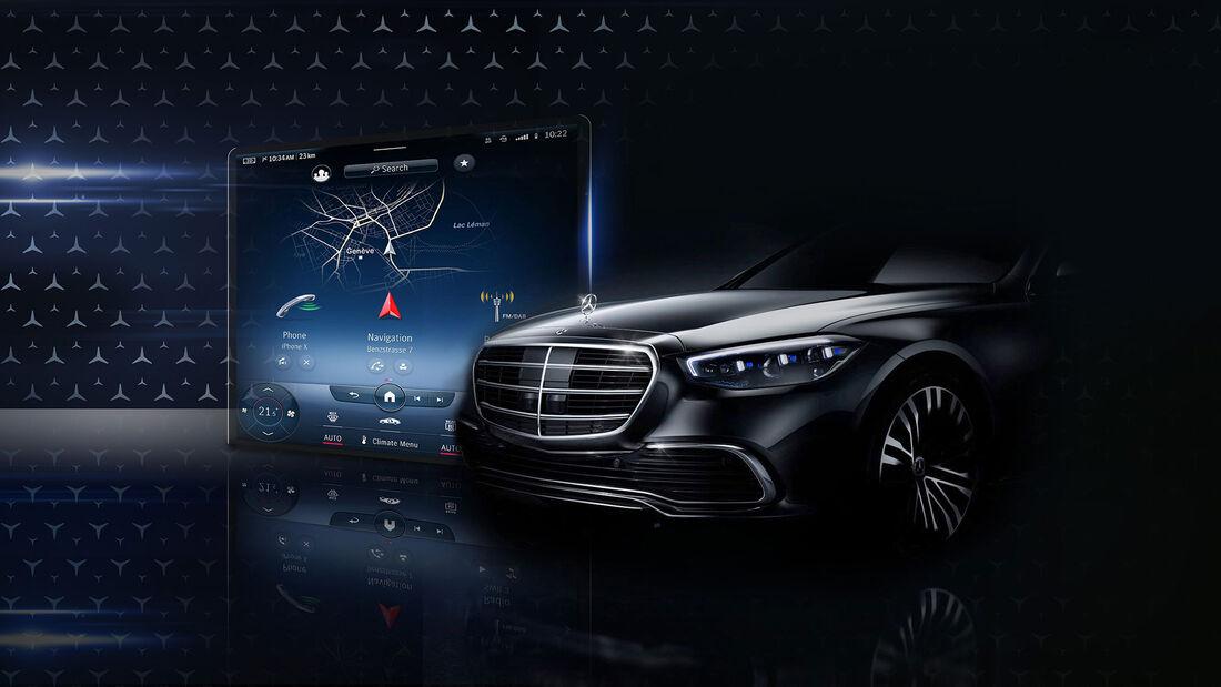 Mercedes S-Klasse Bildschirm