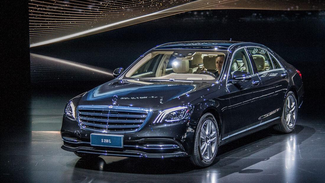 Mercedes S-Klasse Facelift 2017 Weltpremiere Shanghai Auto Show