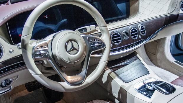 Mercedes S-Klasse Facelift Shanghai 2017 Sitzprobe
