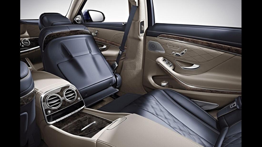 Mercedes S-Klasse, First-Class-Fond, Liegesitz