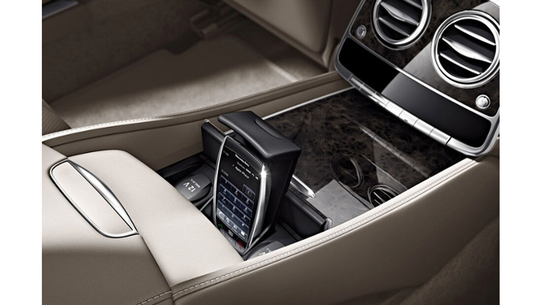 Mercedes S-Klasse, First-Class-Fond, Mittelkonsole