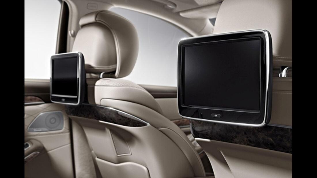 Mercedes S-Klasse, Fond, Entertainmentsystem