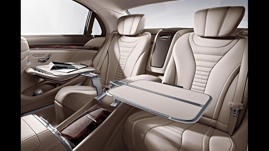 Mercedes S-Klasse, Fond, Klapptische