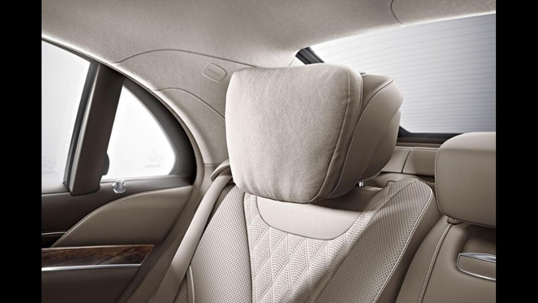 Mercedes S-Klasse, Fond, Kopfstütze