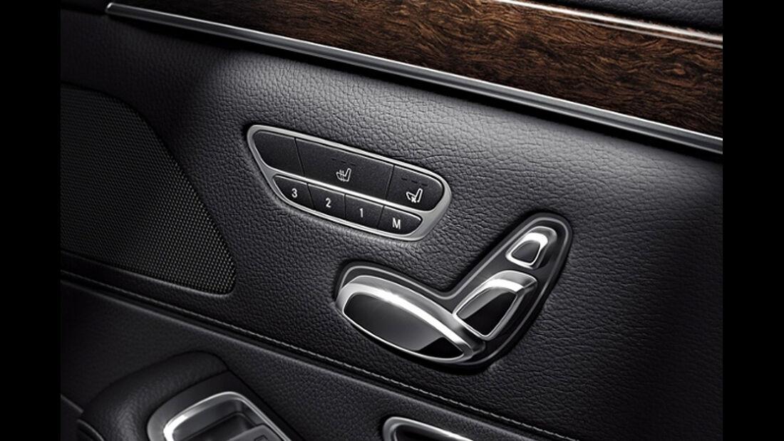 Mercedes S-Klasse, Fond, Sitzverstellung, Sitzheizung