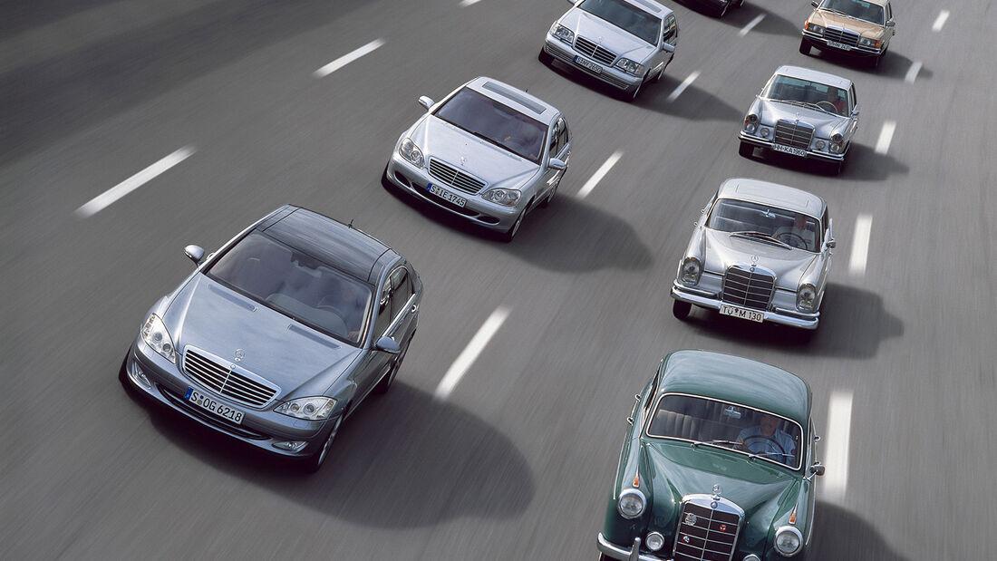 Mercedes S-Klasse, Generationen