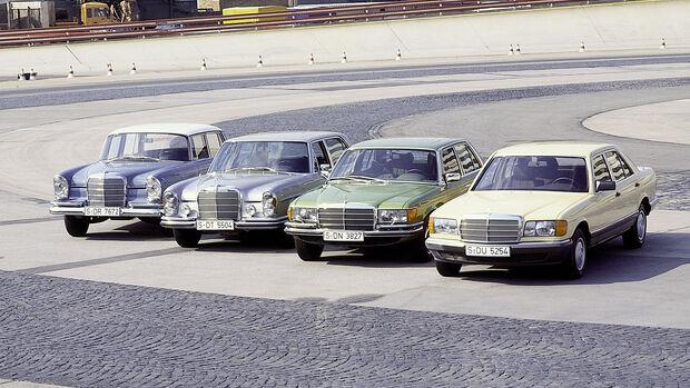 Mercedes S-Klasse Generationen