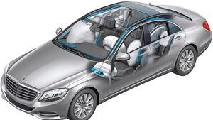 Mercedes S-Klasse, Grafik, Rahmen