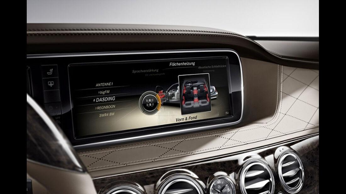 Mercedes S-Klasse, Innenraum, Flächenheizung