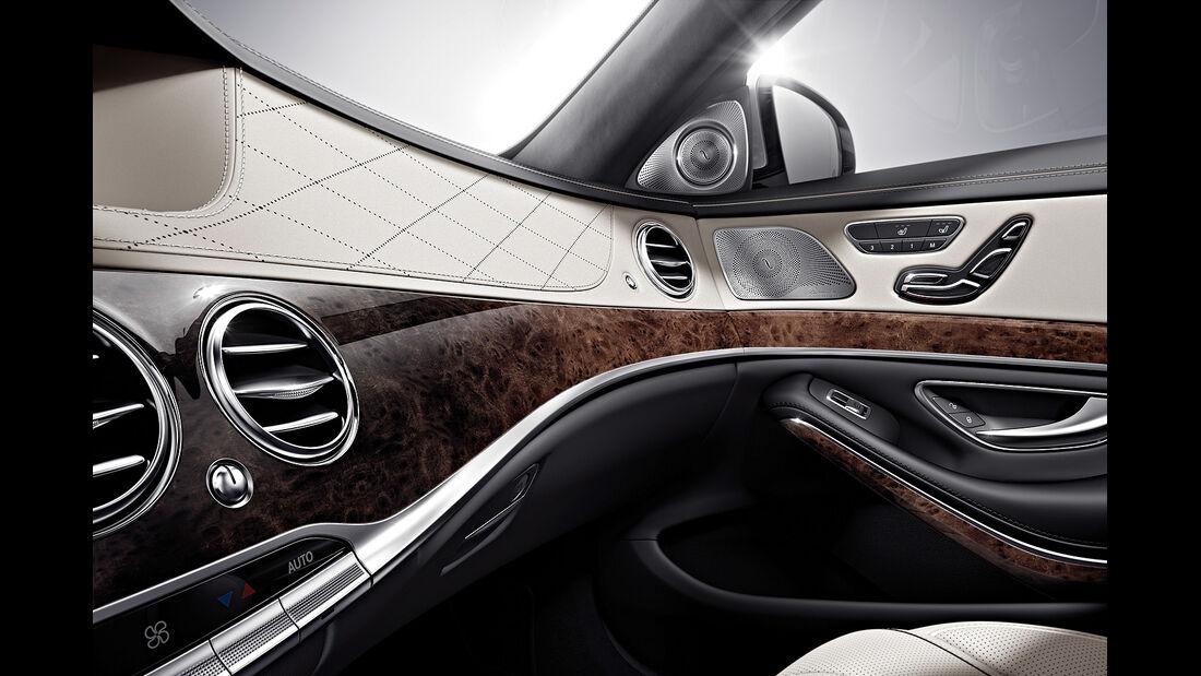 Mercedes S-Klasse Interieur, Cockpit, Armaturen