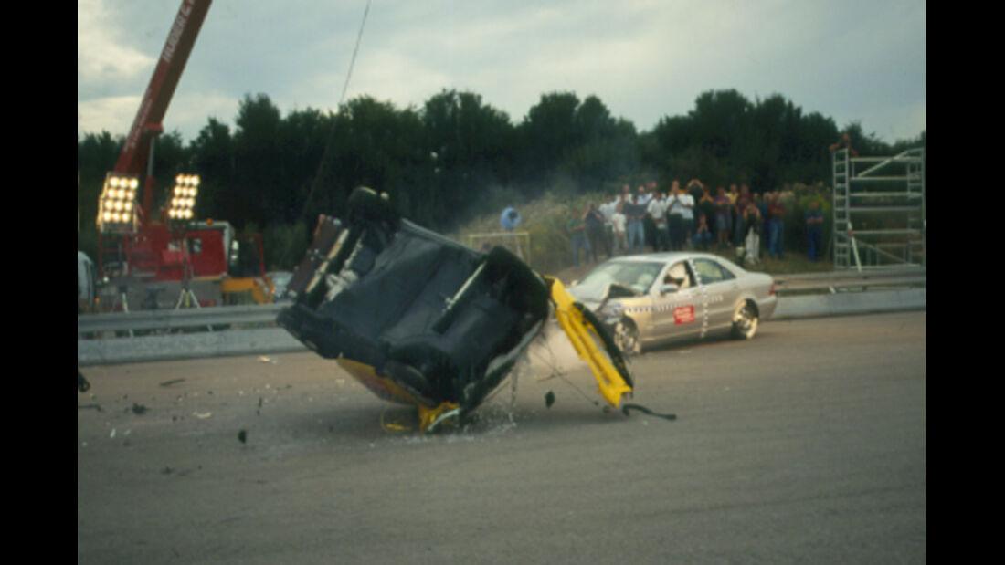 Mercedes S-Klasse, Smart, Crashtest