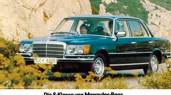 Mercedes S-Klasse, W116, Werbung