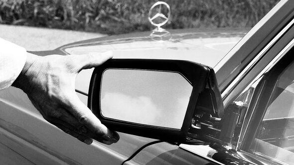 Mercedes S-Klasse, W116, verstellbarer Außenspiegel