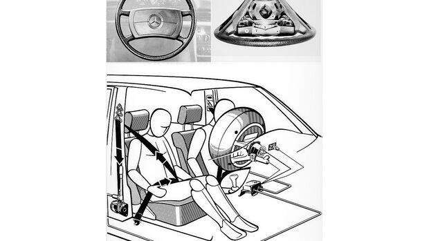 Mercedes S-Klasse, W126, Airbag