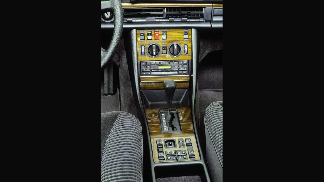 Mercedes S-Klasse, W126, Mittelkonsole, Automatikwählhebel, Klimaanlage