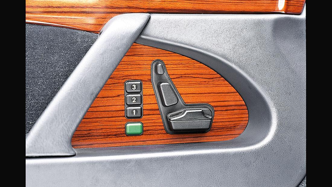 Mercedes S-Klasse W140, Sitzverstellung
