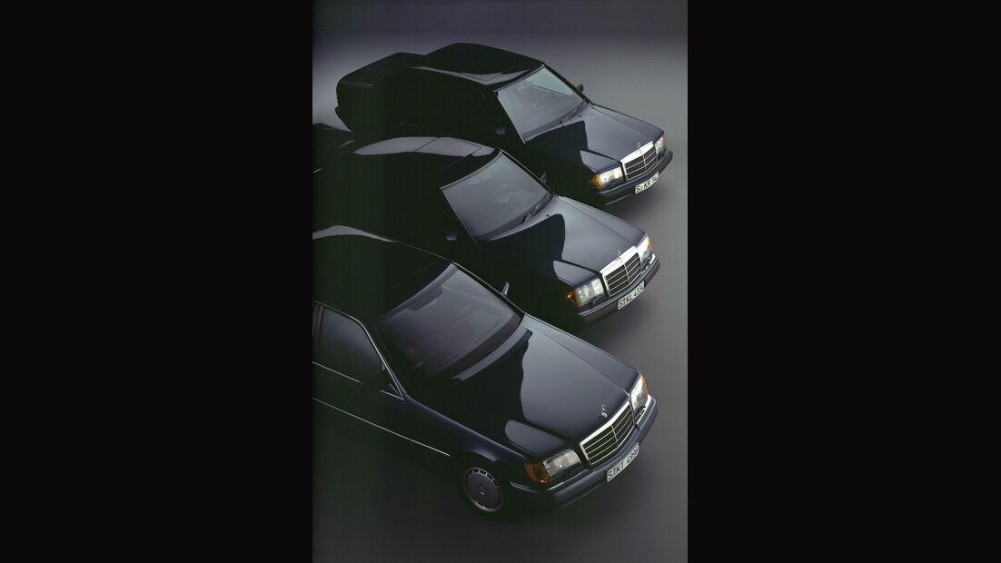 Mercedes S-Klasse W140, W 124, Kompakt-Klasse W 201