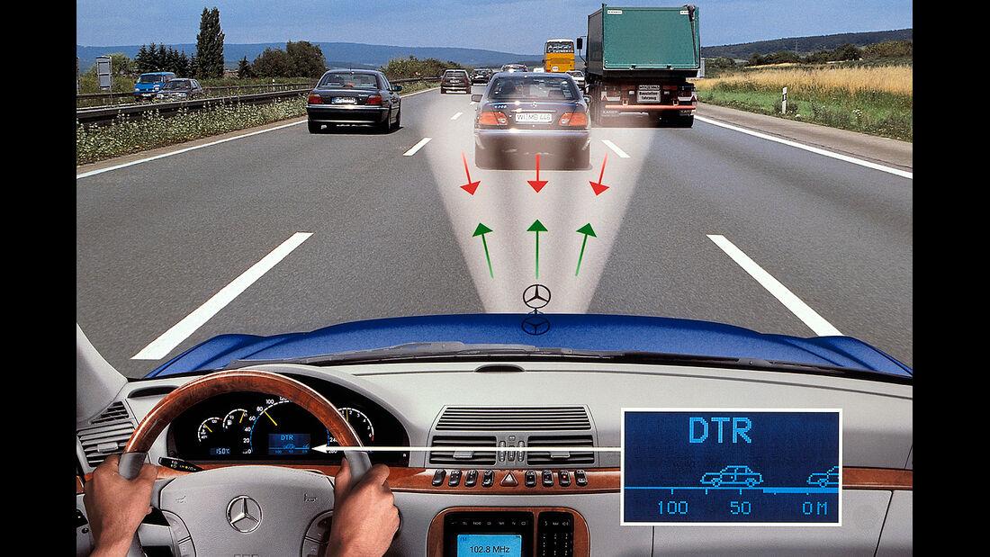 Mercedes S-Klasse, W220, Abstandsregeltempomat, Distronic