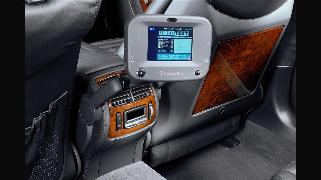 Mercedes S-Klasse, W220, Fond, Entertainmentsystem