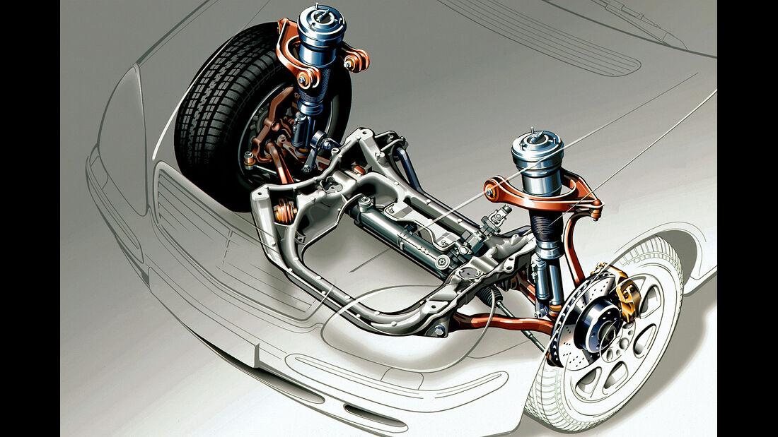 Mercedes S-Klasse, W220, Vorderachse, Dämpfer