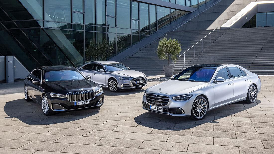 Mercedes S-Klasse vs Audi A8 und BMW 7er