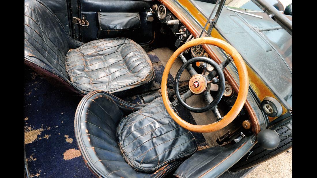 Mercedes S Kompressor, Cockpit, Lenkrad
