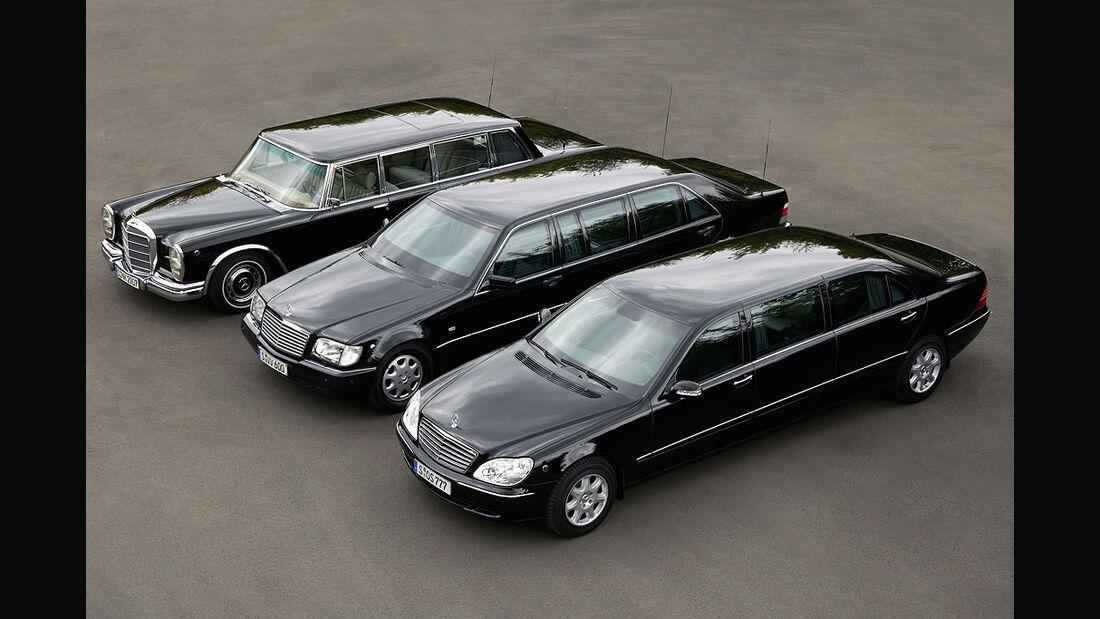 Mercedes, S600, Pullmann alt und neu