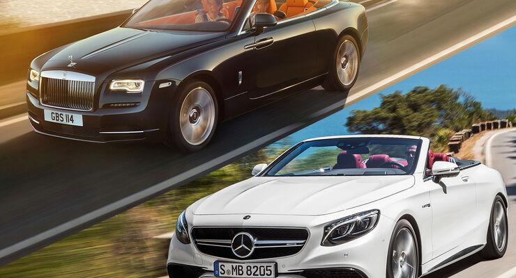 Mercedes S63 AMG Cabrio Vergleich Rolls-Royce Dawn