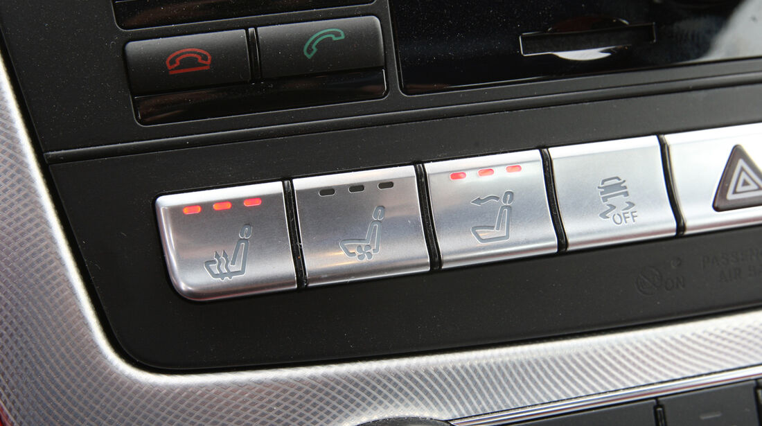 Mercedes SL 350, Mittelkonsole, Bedienelemente