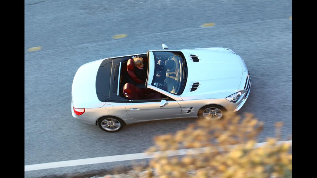 Mercedes SL 500, Cabrio, von oben