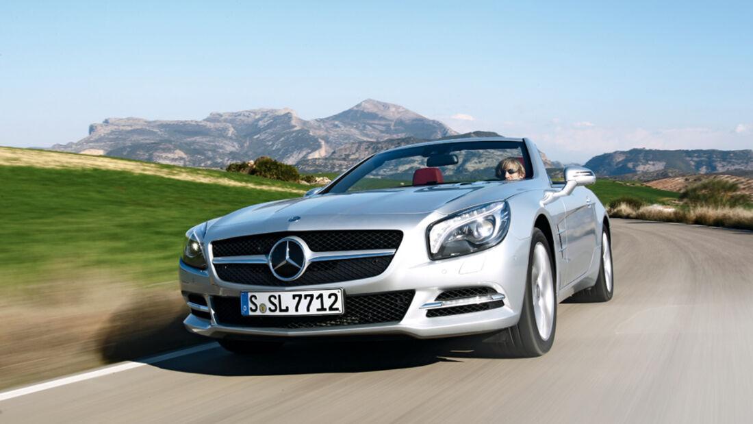 Mercedes SL 500, Frontansicht, Kühlergrill