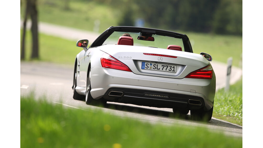 Mercedes SL 500, Heck