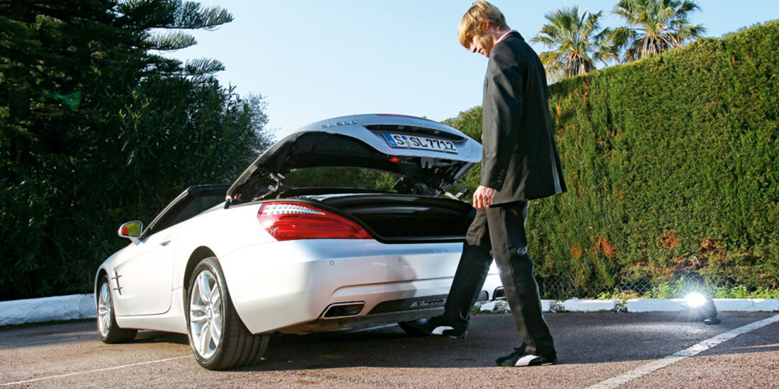 Mercedes SL 500, Heckklappe, Marcus Peters