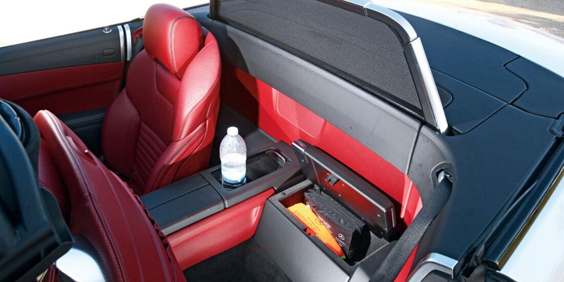 Mercedes SL 500, Rücksitze, Windfang, Windschutz