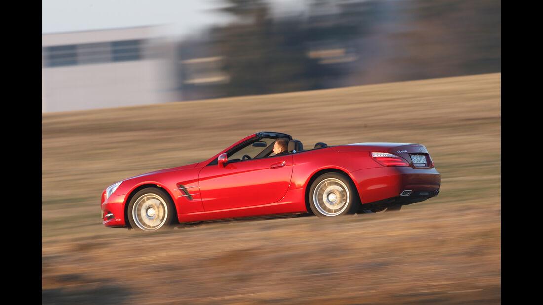 Mercedes SL 500, Seitenansicht