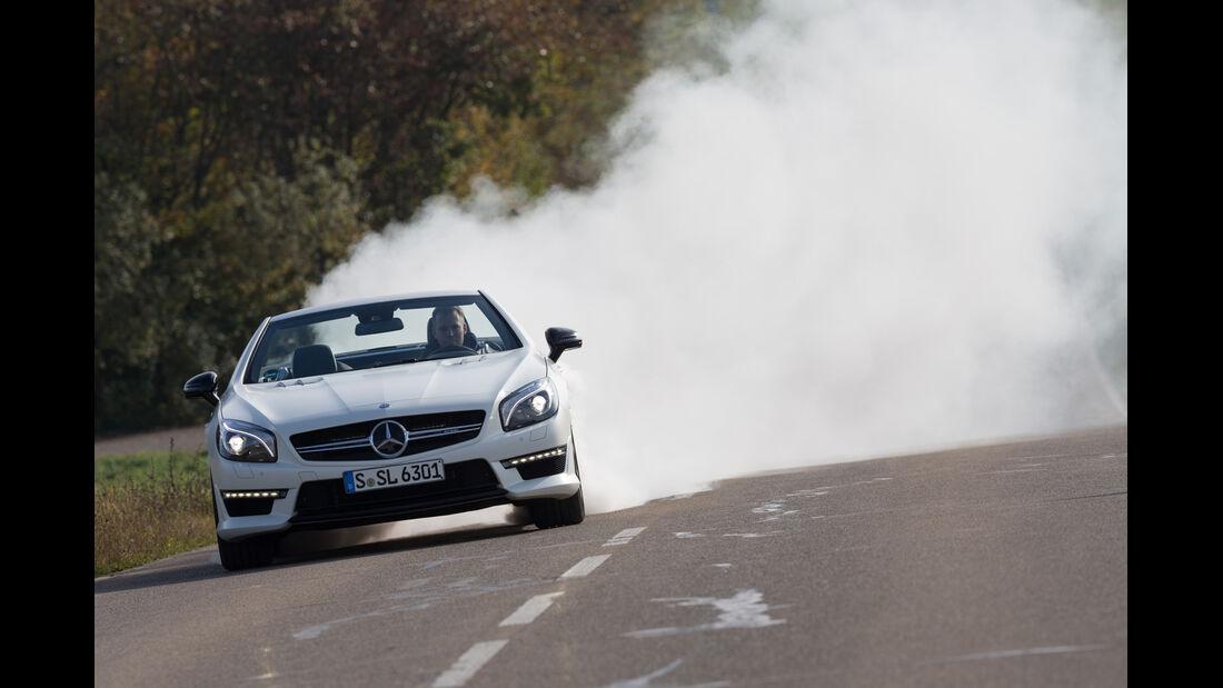 Mercedes SL 63 AMG, Burnout