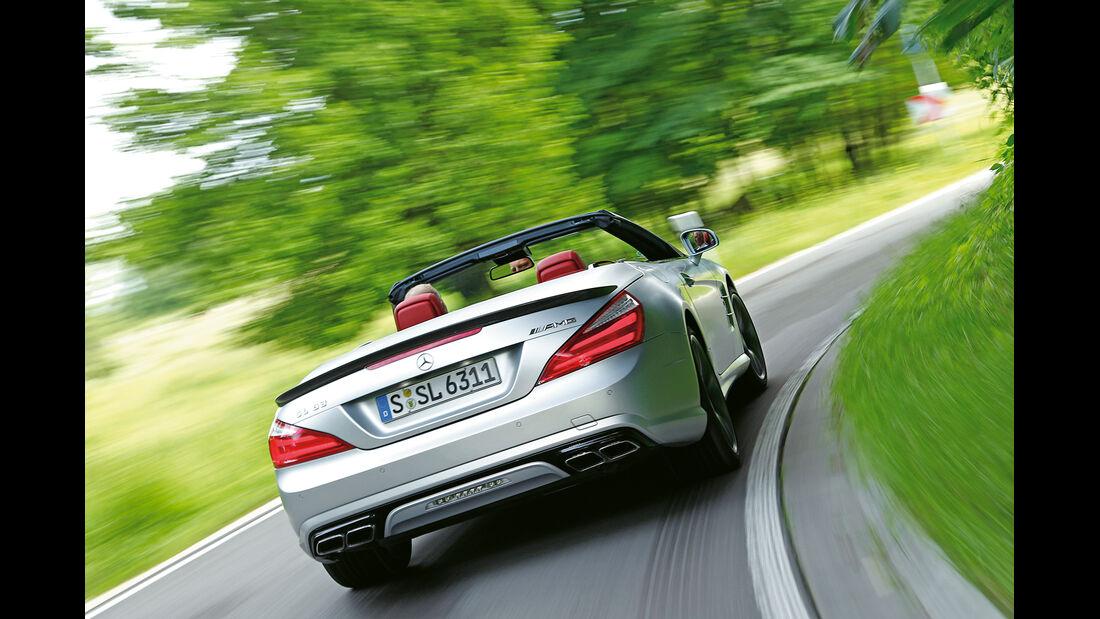 Mercedes SL 63 AMG, Heckansicht