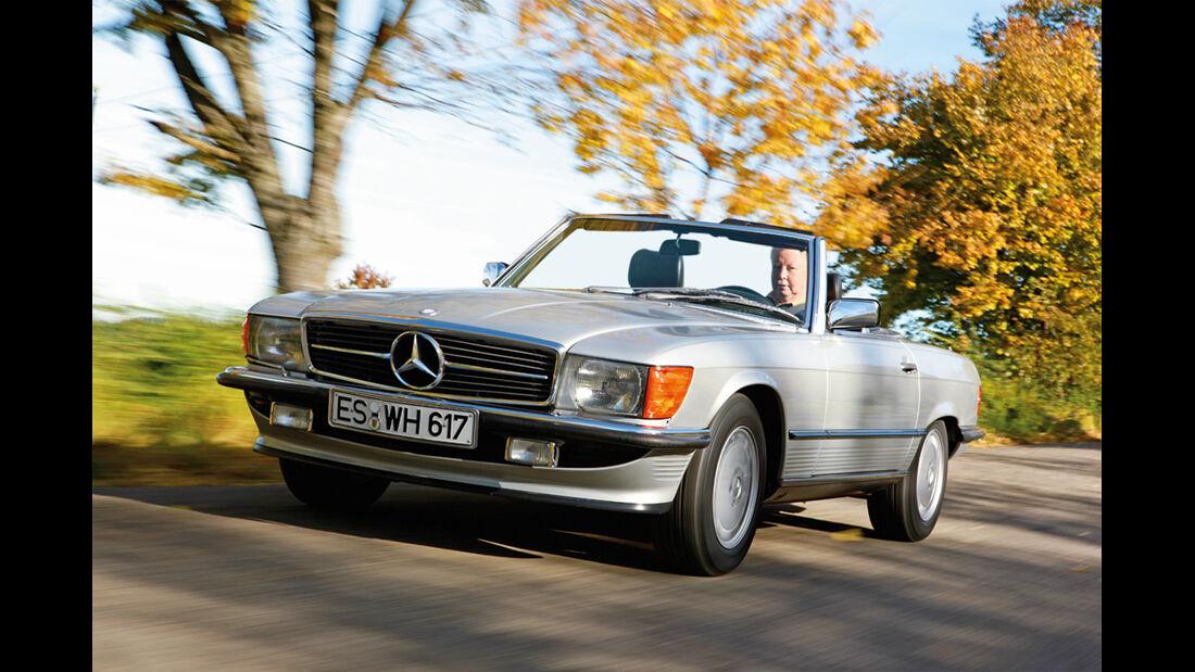 Mercedes SL (R 107), Frontansicht