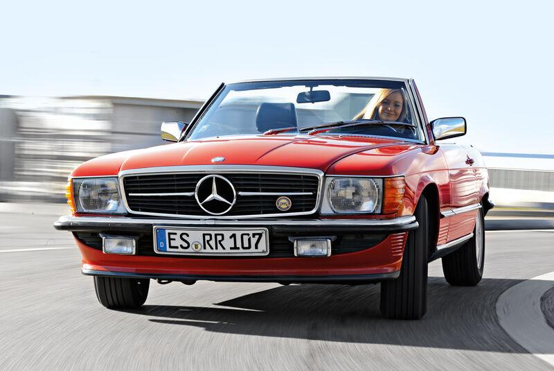 Mercedes SL (R107), Frontansicht
