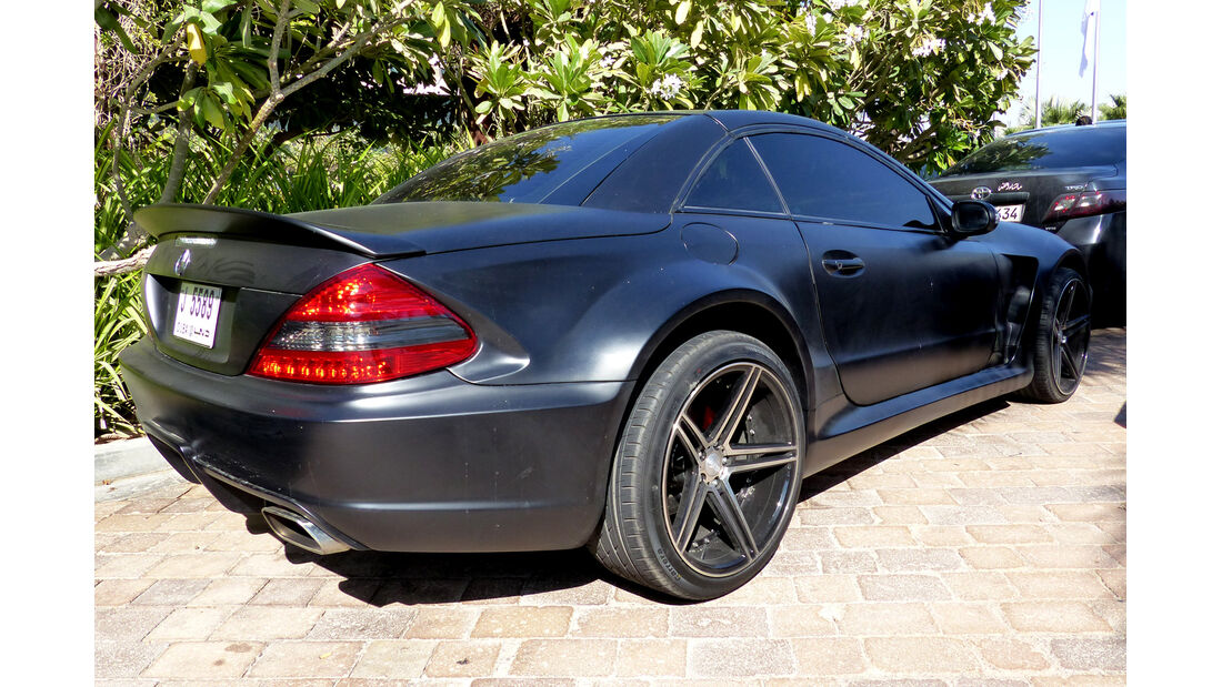 Mercedes SL65 AMG Black Series - F1 Abu Dhabi 2014 - Carspotting