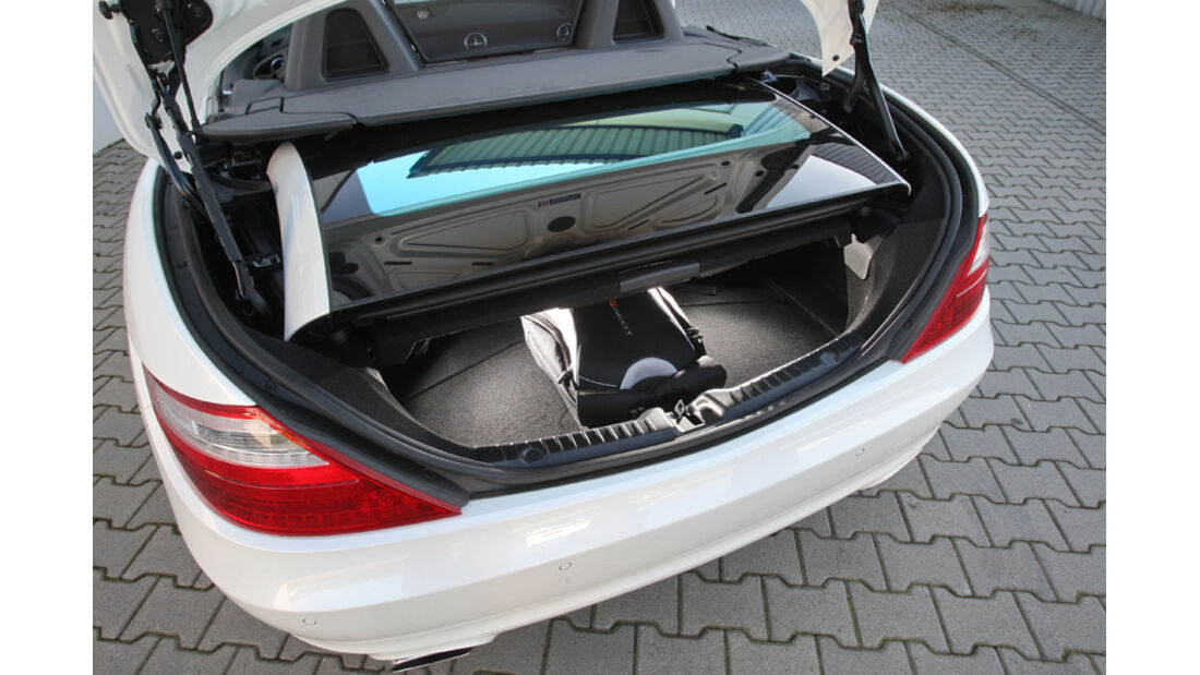 Mercedes SLK 350, Kofferraum