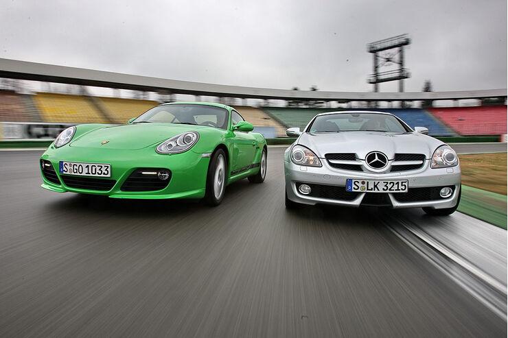 Mercedes SLK 350 vs. Porsche Cayman S