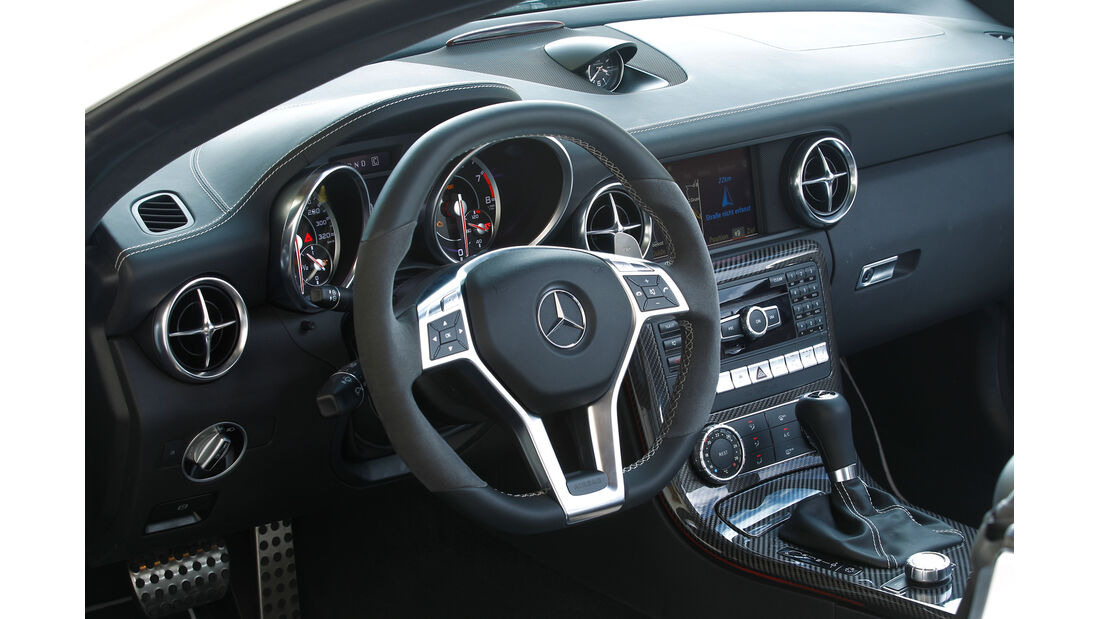 Mercedes SLK 55 AMG, Cockpit, Lenkrad