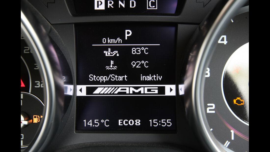 Mercedes SLK 55 AMG, Display, Anzeige