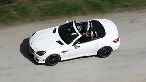 Mercedes SLK 55 AMG, Draufsicht, von oben