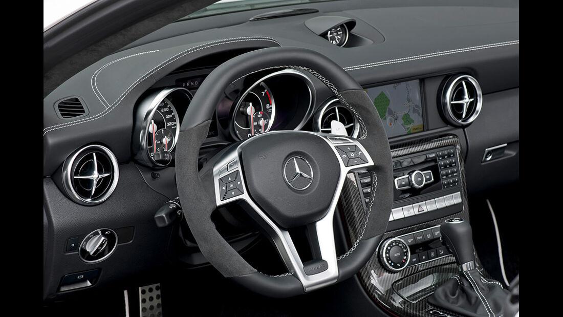 Mercedes SLK 55 AMG, Innenraum, Cockpit, Lenkrad