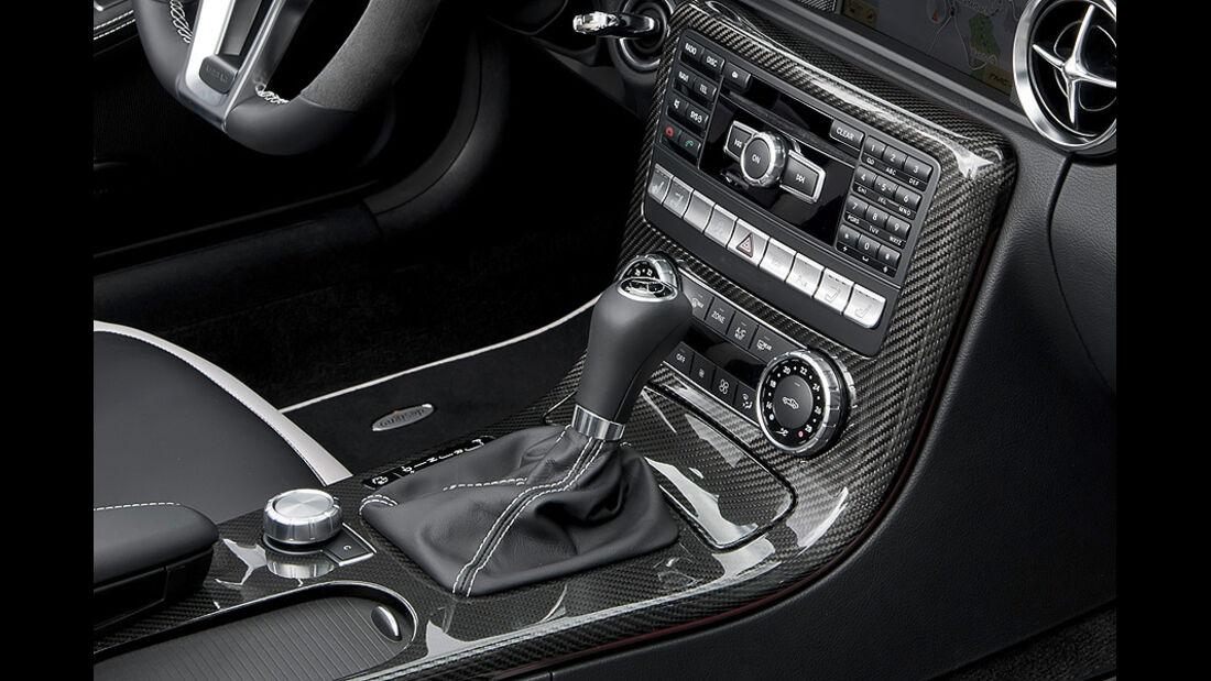 Mercedes SLK 55 AMG, Mittelkonsole, Schaltknauf